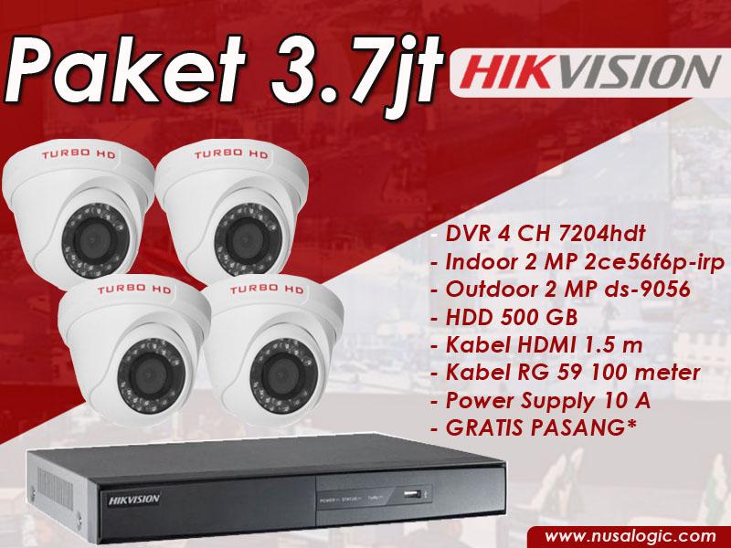 Paket CCTV 4 channel Hikvision
