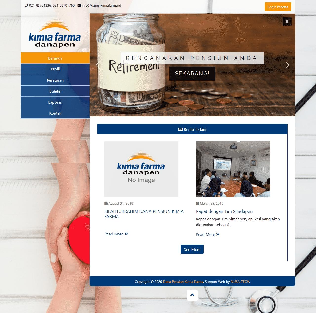 Jasa Pembuatan Website Dapenkimiafarma